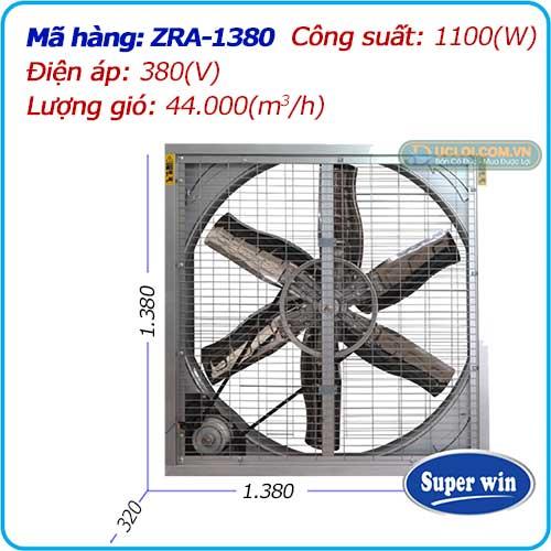 Quạt thông gió 2 mặt lưới ZRA-1380