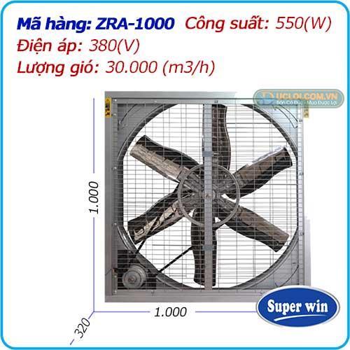 Quạt thông gió 2 mặt lưới ZRA-1000