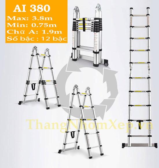 Thang rut doi chu A 3.8m