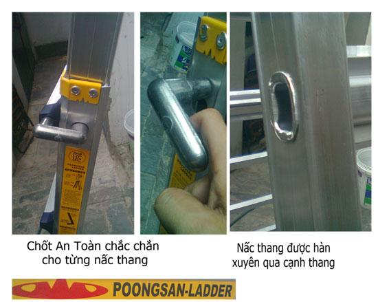 Thang Nhôm Poongsan PS46 các chốt khóa tự động