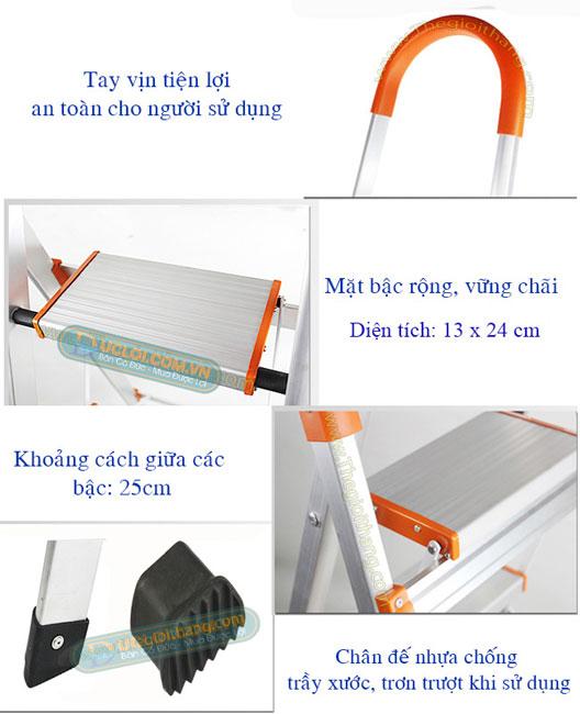 ưu điểm thang ghế inox tay vịn