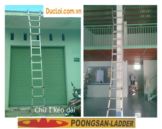 Thang Nhôm Poongsan PS46 kéo dài chữ i
