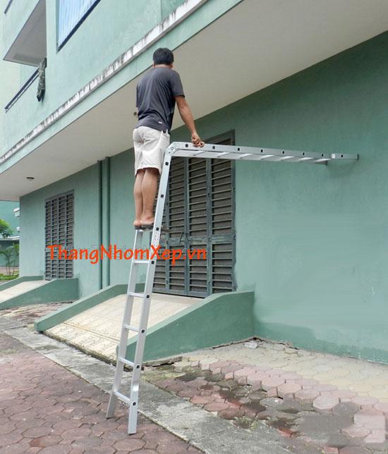 Thang Nhôm Xếp Chữ A Khóa Tự Động NK25 các kiểu xếp