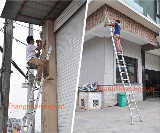 Thang Nhôm Xếp Chữ A Khóa Tự Động NK25 sữa nhà